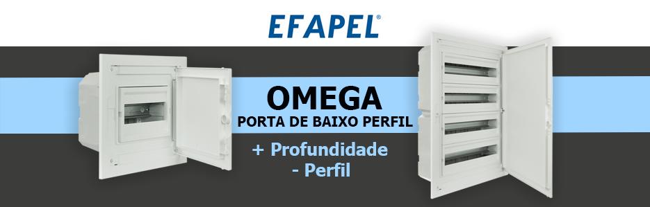 Quadros Elétricos Omega - Baixo Perfil da EFAPEL